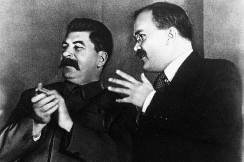 Stalin and Molotov in the Kremlin