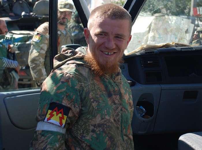 Motorolla with Sparta battalion insignia