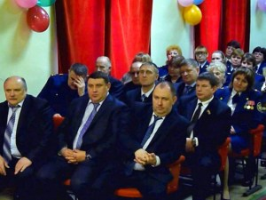 Officials of Putin's government celebrating 75th anniversary of one of the first GULAG concentration camps in Russia