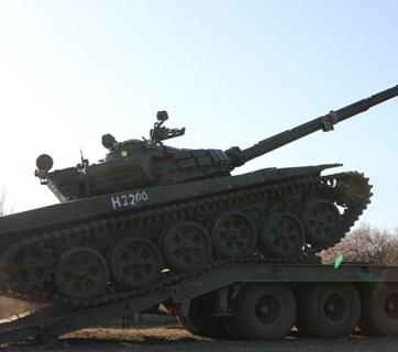 Russian tank near Ukrainian border