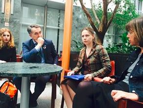 Sister Vira in Brussels meeting EU Comission