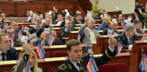 "Voting in the ""DNR Parliament"" (Image: dsnews.ua)"