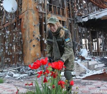 Spring in the village of Pisky near Donetsk airport completely destroyed during the Russian aggression against Ukraine (Image: Olena Bilozerska, Bilozerska.info).