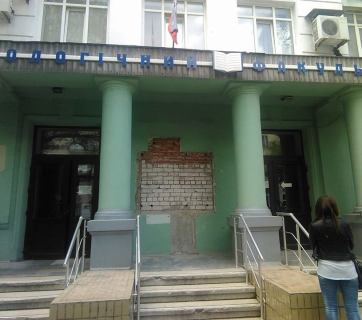 The Russian occupation force took down the commemorative plaque for Vasyl Stus (1938–1985) at Donetsk University. Stus was a Ukrainian poet and publicist, one of the most active members of Ukrainian dissident movement. For his political convictions, his works were banned by the Soviet regime and he died in Gorbachev-time GULAG. (Image: Larysa Lysiak)