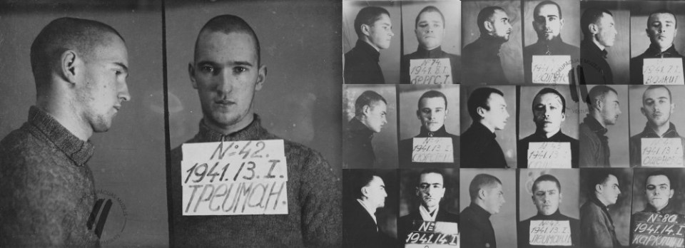 """Free Latvia"". In Secondary School No. 1 in Jelgava 11th grade student Fricis Skurstenis organized the patriotic group ""Free Latvia"". The students were inspired by emotional protest against the Soviet occupation power and its politics. Chekists discovered and destroyed the group, sentencing all 13 members. Only one member, Voldemārs Treimanis, survived the years in a GULAG hard labor camp.  (Image: The Museum of the Occupation of Latvia)"