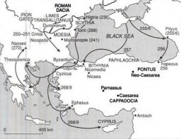Gothic Invasions in the 3rd Century. Image: Wikipedia