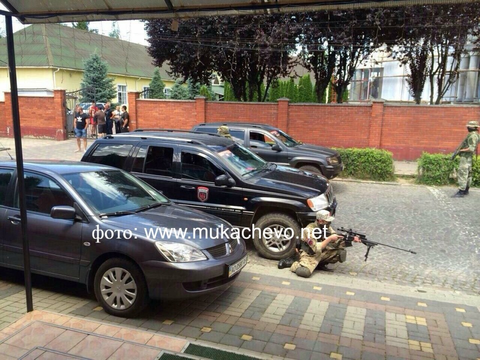 """Armed Right Sector fighters near """"Antares""""."""