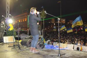 Roman Vashchuk on Maidan in 2014