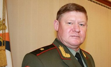 """Andrei Serdyukov (cover name """"Sedov""""), Colonel General of the Armed Forces of the Russian Federation (Image: livekuban.ru. Note that the image was taken while Serdyukov was still a major general.)"""
