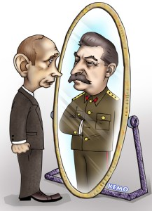 Putin - Stalin cartoon (Image: KEMO, censor.net.ua)