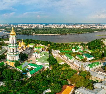 A panorama of Kyiv