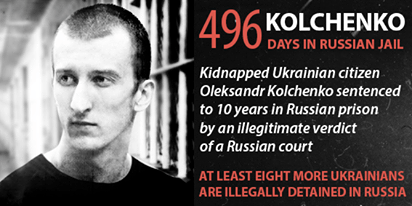 Oleksandr Kolchenko - 496 days in Russian jail