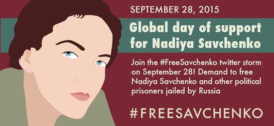 Nadiya Savchenko - September 28, 2015 - Global day of support