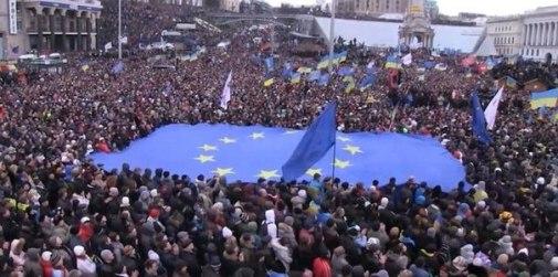 A Euromaidan rally on 1 December 2013 on Kyiv's Maidan square