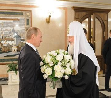 Putin with Kirill, the patriarch of the Russian Orthodox Church (Image: patriarchia.ru)