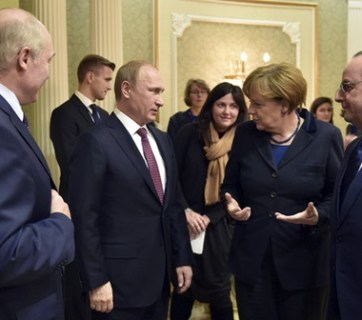 Lukashenka, Putin, Merkel and Hollande at Minsk (Image: nr2.com.ua)
