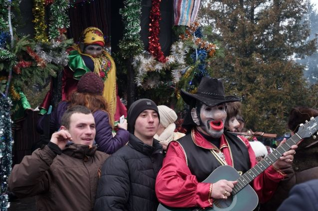 The merry spirit is shared by both masks and guests