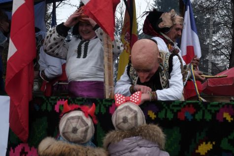 While most masks are traditionally worn by men, some women do take part in the carnival nowadays