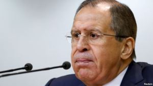 Russian Foreign Minister Sergey Lavrov at press conference in Moscow, January 26, 2016