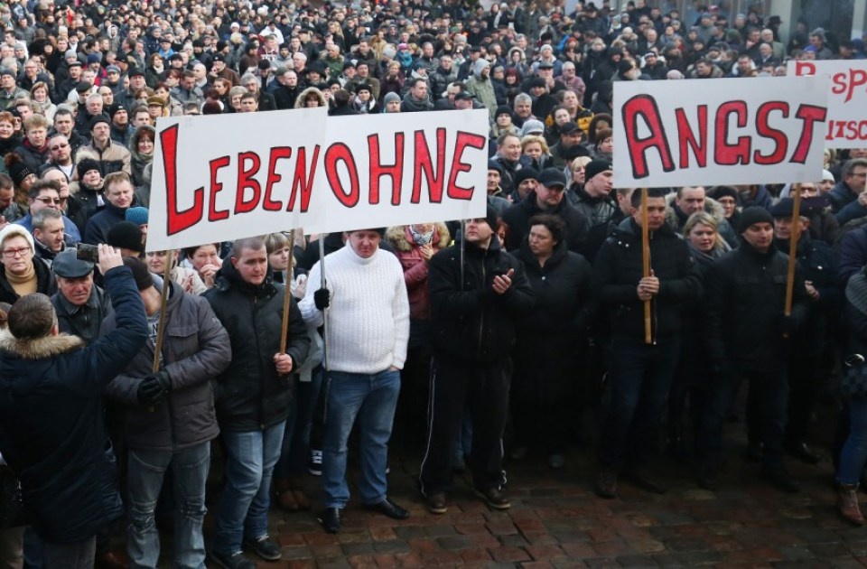 Pro-Moscow outlets using social media whipped up the Russian German community, sparked demonstrations in a variety of German cities over an alleged rape and against refugees, and called into question the ability of the German police to protect Germans from Muslims and Turks. (Image: AP)