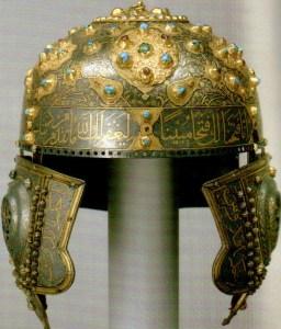 The helmet of Russian Orthodox saint Great Prince Aleksandr Nevsky, which was later worn by Tsar Mikhail Romanov