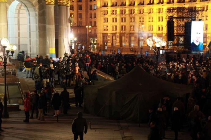 Kyiv Maidan on 20 February 2016, photo by pravda.com.ua