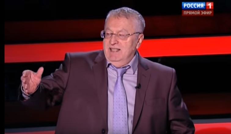 Vladimir Zhirinovsky in Solovyov's show on channel Rossiya on 14 February 2016