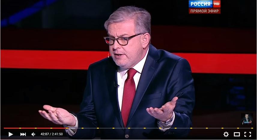 Dmitriy Kulikov on Solovyov's show, YouTube.