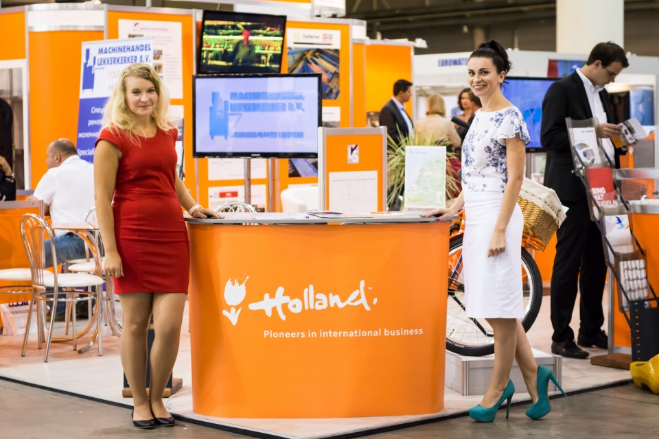 Natalia Gorbachenko, Project Manager Grimco Trade Holland (left), Irina Bobryshova, Account Manager Grimco Trade Holland (right).