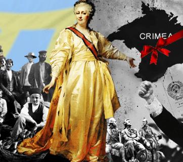 Russian myths about Crimea (Image: Ganna Naronina, EUROMAIDAN PRESS)