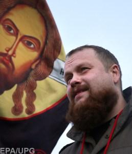 "Dmitry Demushkin, the leader of the ethno-political movement ""The Russians"" (Image: EPA/UPG)"