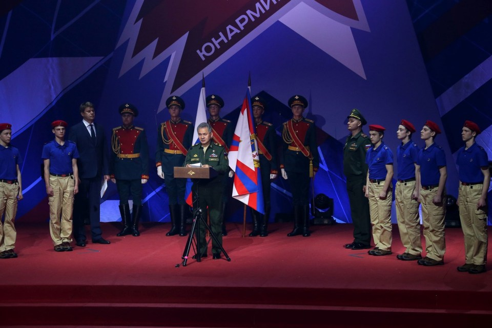 Russian defense minister Sergey Shoigu announces the creation of the Youth Army militarized movement, May 2016 (Image: rt.com)