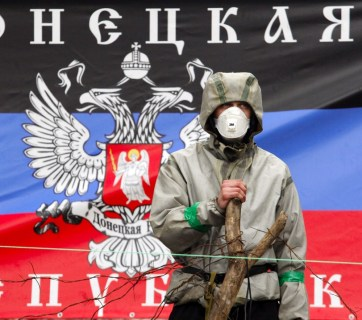 Russian hybrid army in the Donbas, Ukraine
