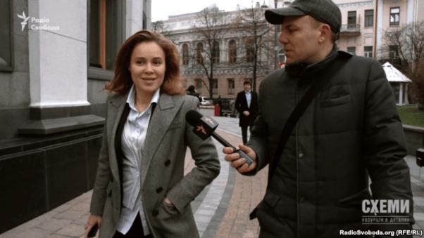 Deputy Nataliya Korolevska with journalist Serhiy Andrushko