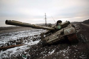 Defeated tank of the Russian hybrid military in the Donbas, Ukraine (Image: znak.com)