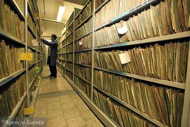 Archive of the Institute of National Remembrance in Warsaw, Poland that deals with lustration. Photo: Agencja Gazeta