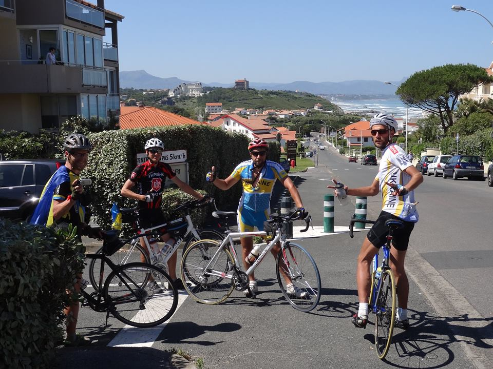 Team of Ukrainian bike travelers in Spain, Summer of 2016. Photo from: https://www.facebook.com/ukrainskamerega