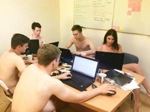 Naked office selfies go viral after Alyaksandr Lukashenka urges citizens to 'get undressed and work till you sweat' (Image: social media)