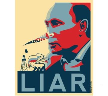 Putin - Liar (Image: Rosagit.info)