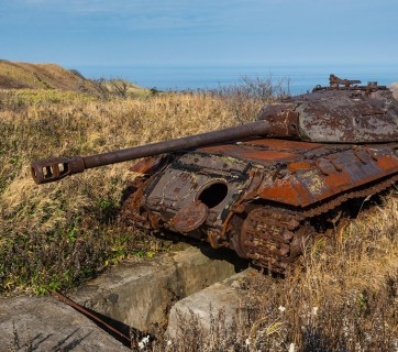 A Russian tank, which served to defend the state's Far Eastern border and a symbol of its military power, simply abandoned to rot in its position (Image: dementievskiy.livejournal.com)