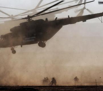 """Mi-8 combat helicopters participating in the Russian military exercises """"Caucasus-2016"""" in Russia's Southern Military District near Ukraine (Image: TASS)"""