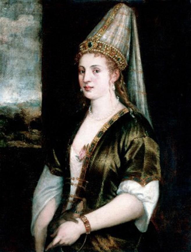 Портрет Роксолани «La Sultana Rossa», художник Тиціан, 1550