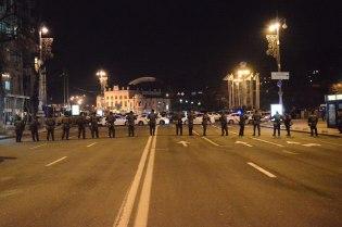 The national guard near the entrance of Maidan