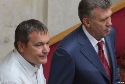 Deputies Vadym Kolesnichenko (l) and Serhiy Kivalov (r), July 30, 2012