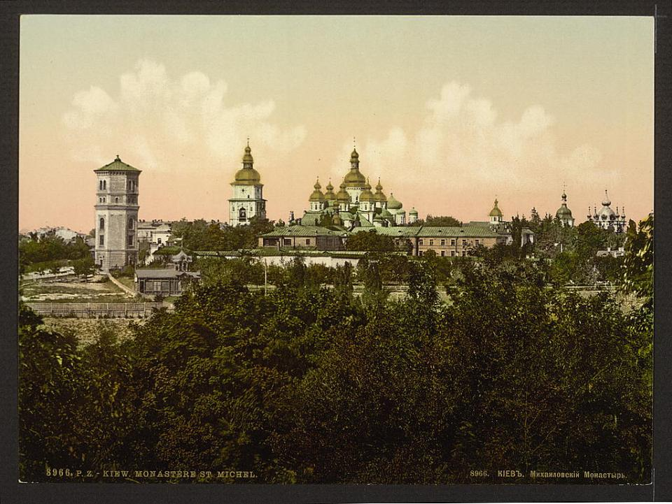 St. Michael Monastery in Kyiv, Ukraine circa 1890-1900. Image: Detroit Publishing Company via the Library of Congress