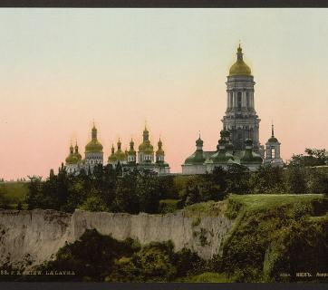 A view of the Kyiv Pechersk Lavra also known as the Kyiv Monastery of the Caves in Kyiv, Ukraine, photographed circa 1890-1900. It was founded as a cave monastery in 1051. (Photo: Detroit Publishing Company via the Library of Congress)