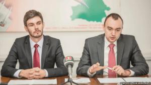 Arseny Sivitsky and Yuri Tsarik (L-R)