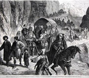 Exile of the Circassian peoples into Turkey in 1864