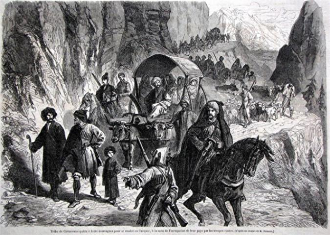 Emigration of the Circassians into Turkey in 1863