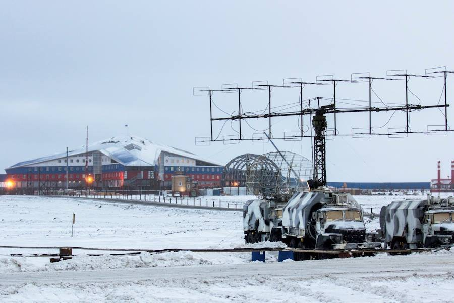 The Arctic Trefoil, a newly-built Russian military base on Alexandra Land island near the North Pole (Image: delphi.lv)